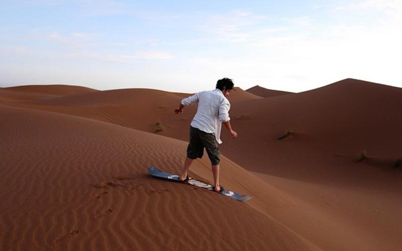 Sandboarding in chegaga - Morocco Desert -  Desert Excursion to Erg Chigaga/Erg