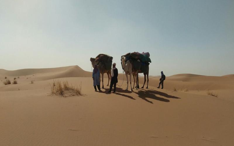 Travel to Morocco - 6 days tour with Camel Trekking to Chegaga-Ezahar-oud-naam-Erg-smar