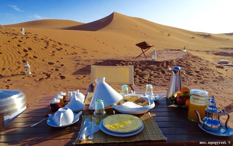 Breakfast at the Bivouac, Desert Camp Sahara Relax